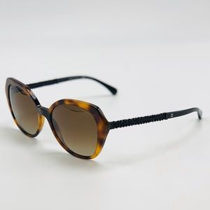 New! CHANEL 5375-B Tortoise Polarized Sunglasses